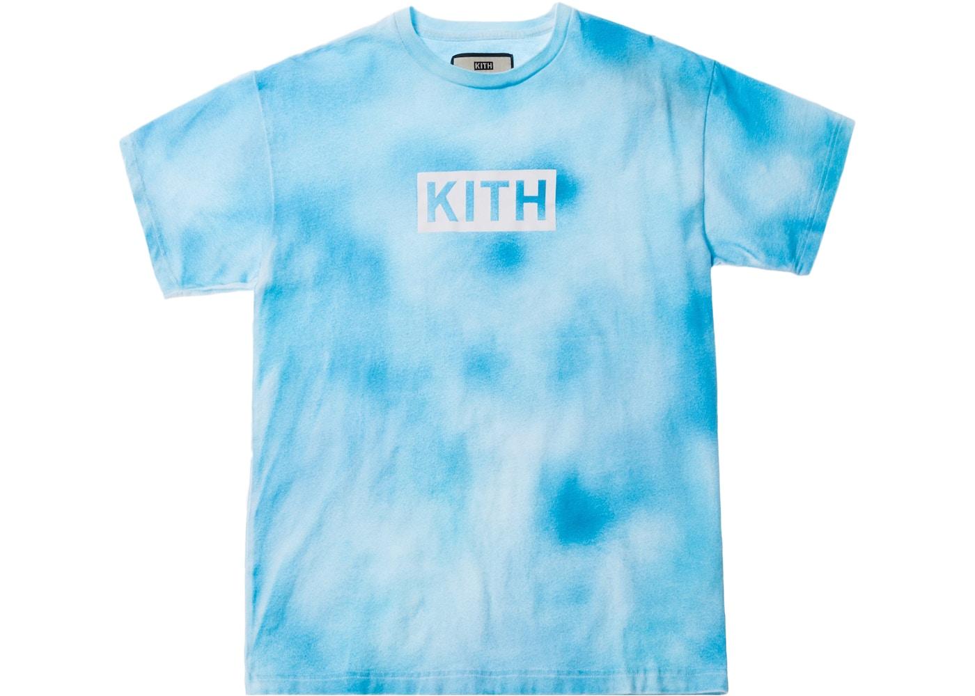 c67c9fa8 Kith Tie Dye Box Logo Tee Blue - SS18