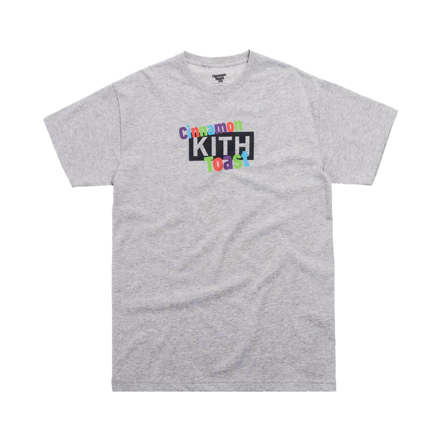 Kith Treats x Cinnamon Toast Crunch Classic Logo Tee Light Heather Grey