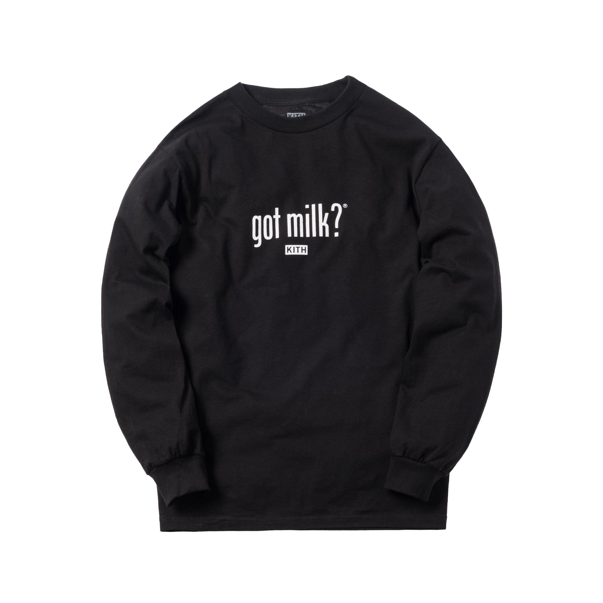 Kith Treats x Got Milk L/S Tee Black