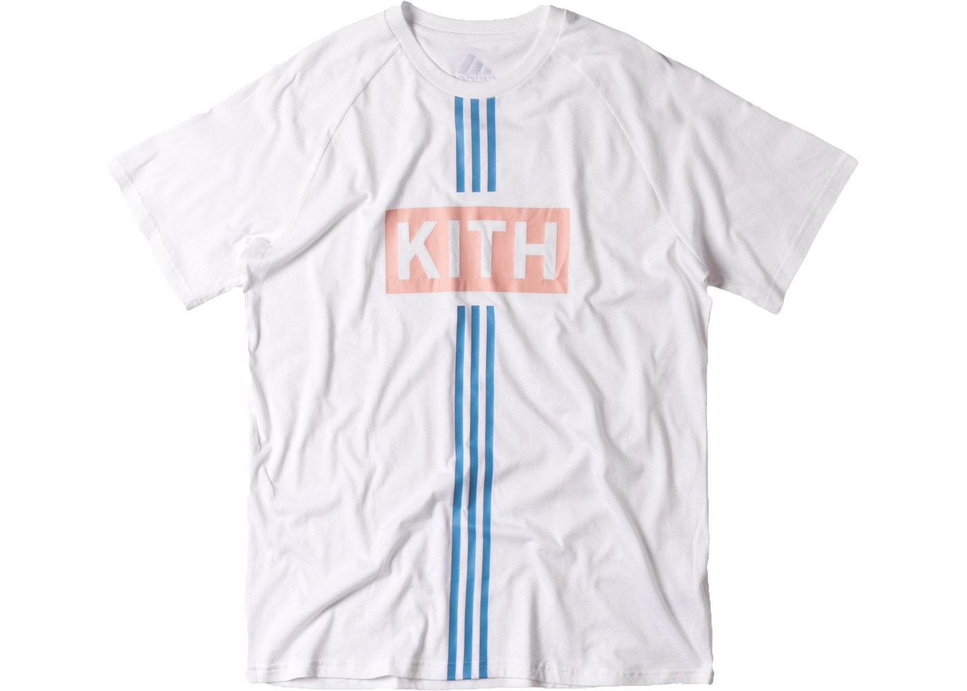 finest selection 415da 96408 Kith adidas Soccer Flamingos Home Alternate Classic Logo Tee White