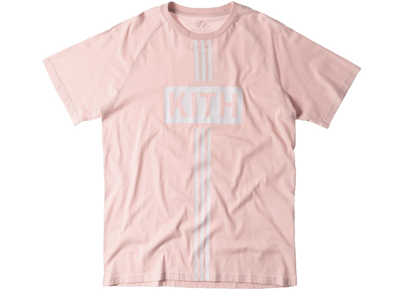 bd9a29cca4e117 Kith adidas Soccer Flamingos Home Classic Logo Tee Pink - SS17