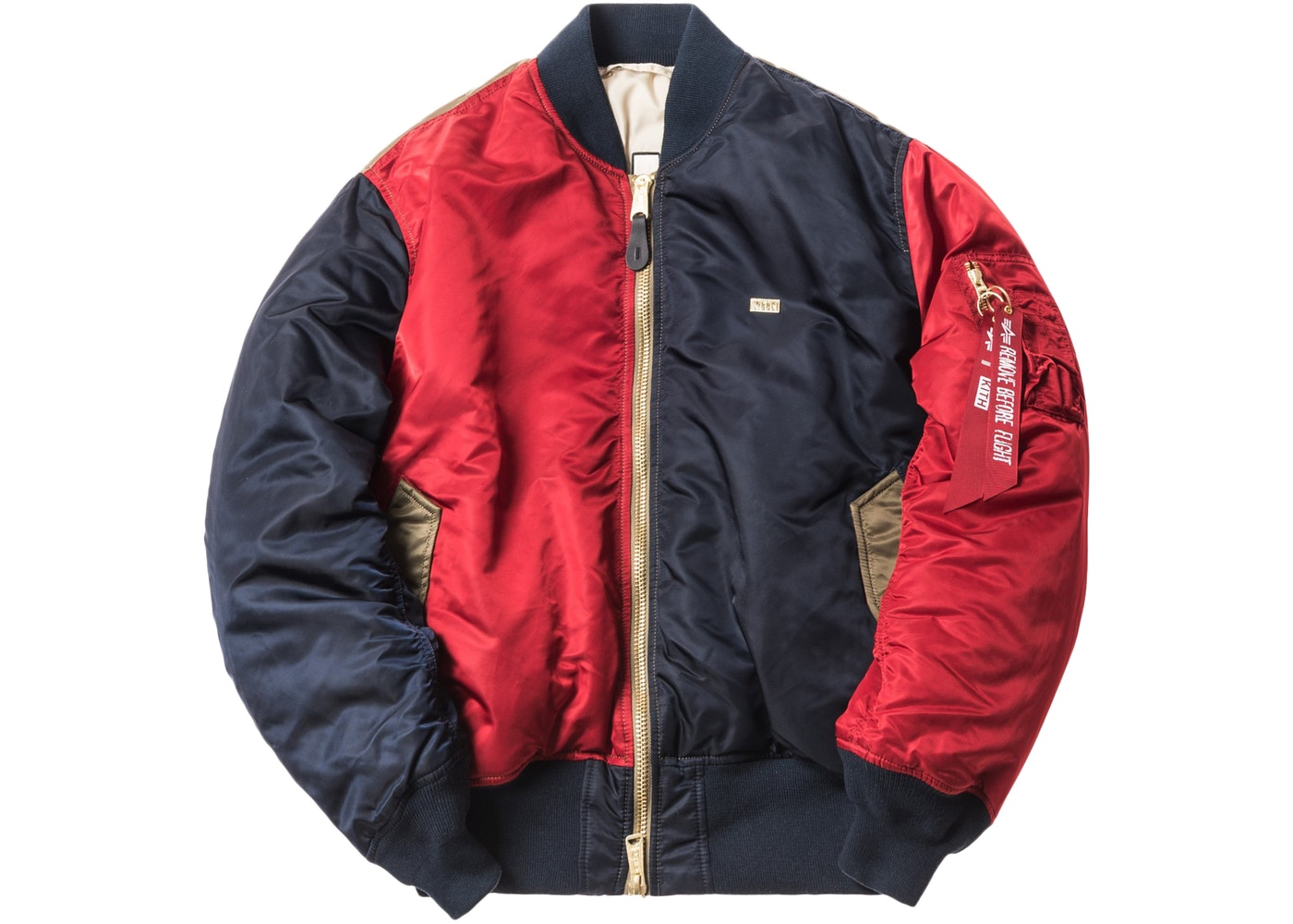 quality design a7aa4 85fdc Kith x Alpha Industries MA-1 Bomber Navy/Red/Olive