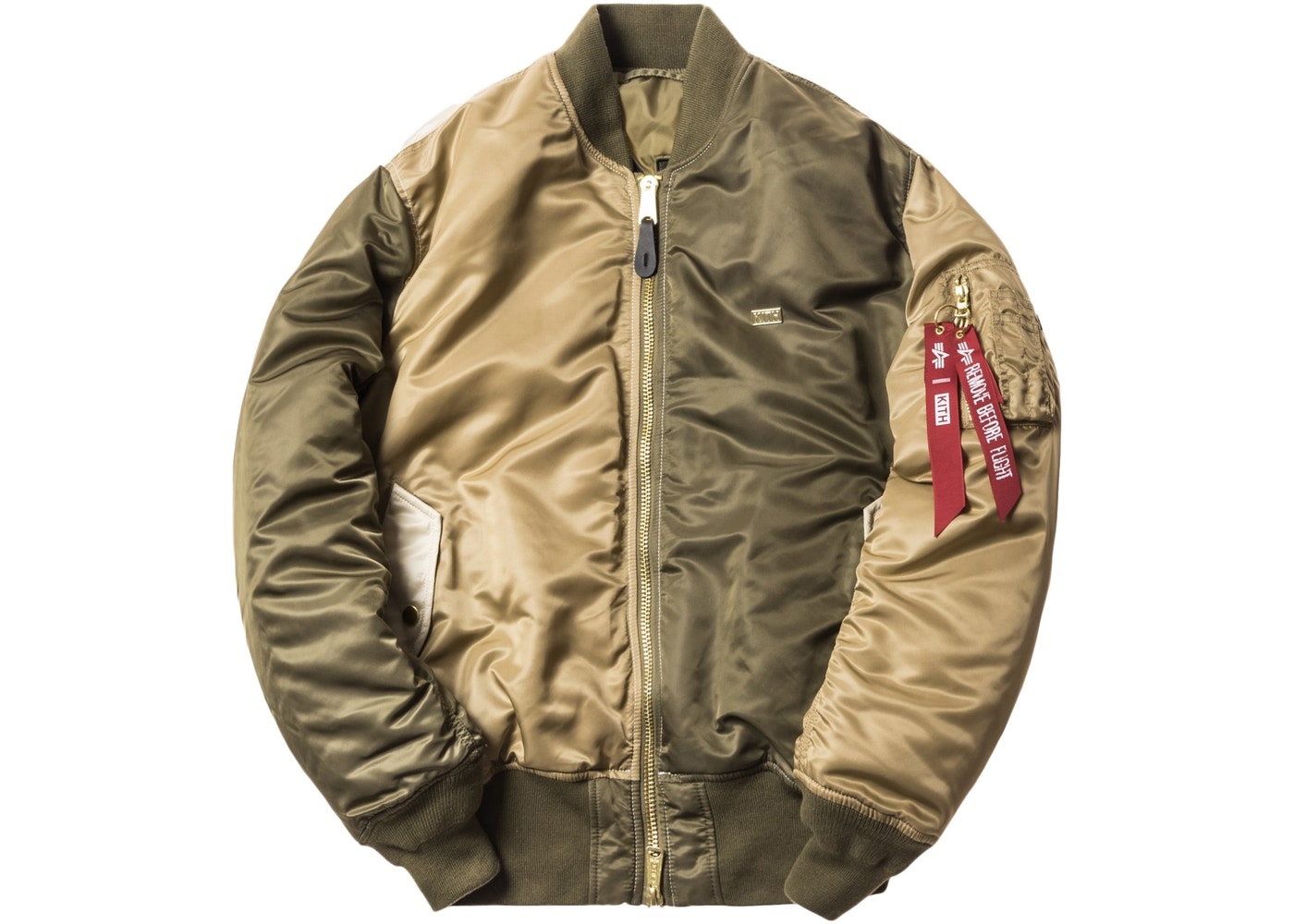wholesale dealer 1eab1 7bf5e Kith x Alpha Industries MA-1 Bomber Olive/Coyote/Tan