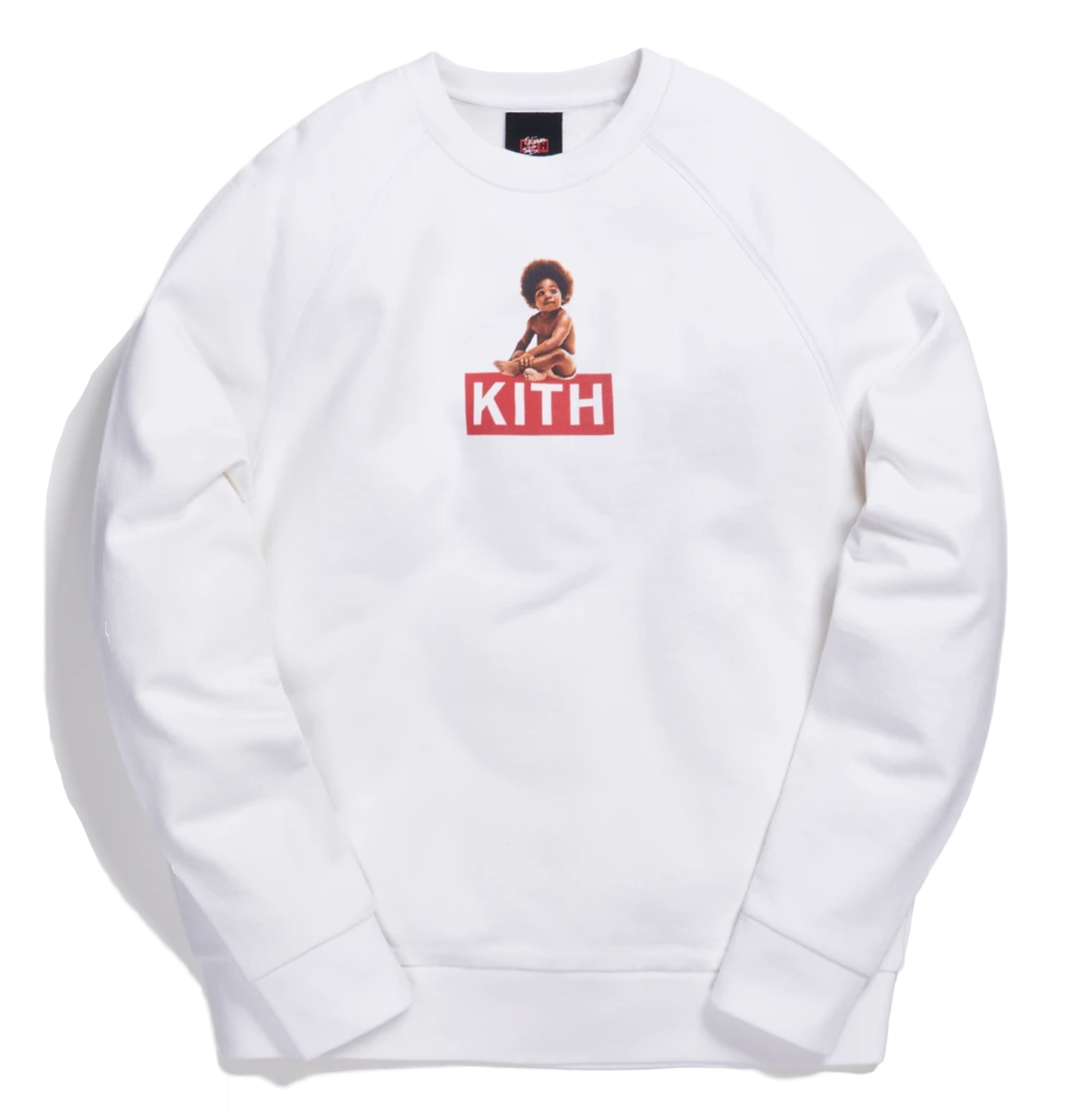 Kith x Biggie Classic Logo Crewneck White