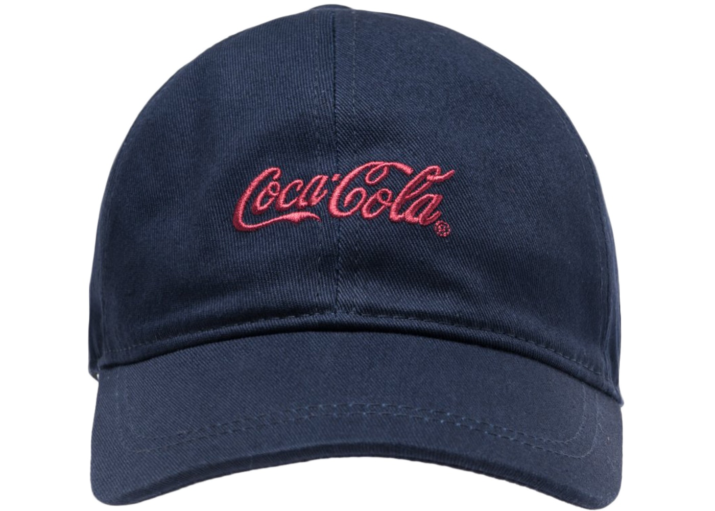 12c47764 Kith x Coca-Cola Classic Coke Logo Cap Navy - FW18 - StockX