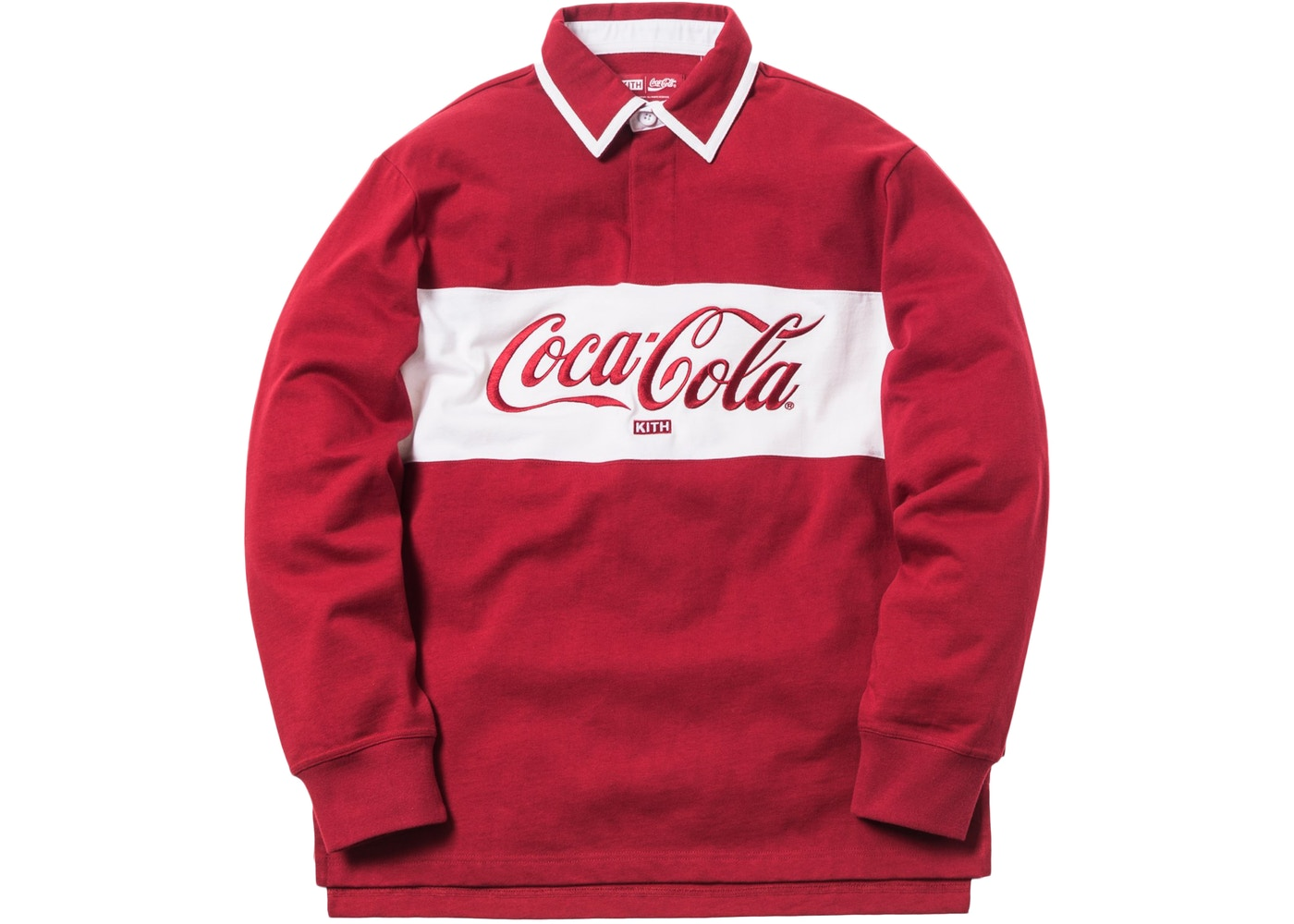 cc8bd6d8 Kith x Coca-Cola Classic Rugby Red - FW18