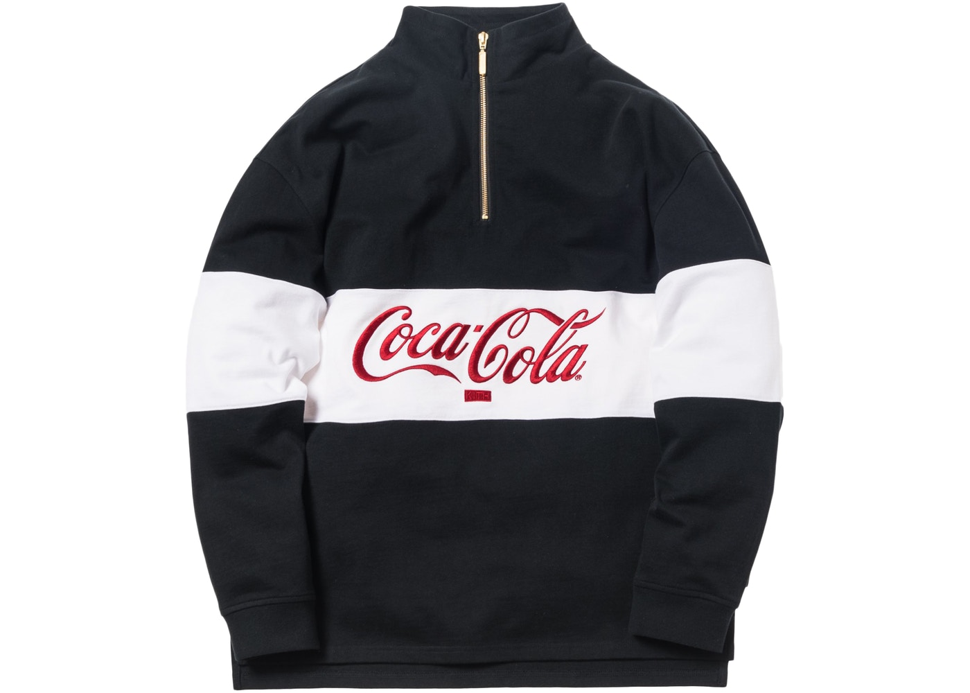 0bd93254 Kith x Coca-Cola Quarter-Zip Rugby Black - FW18