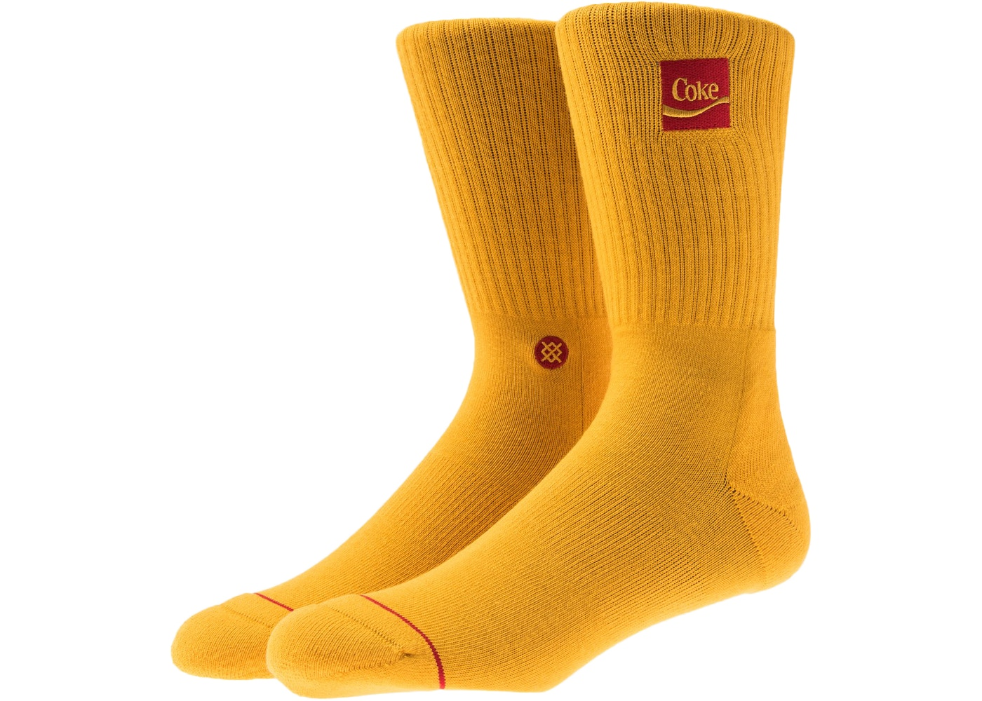 c86a855a09bc8 Kith x Coca-Cola x Stance Crew Sock Yellow - FW18