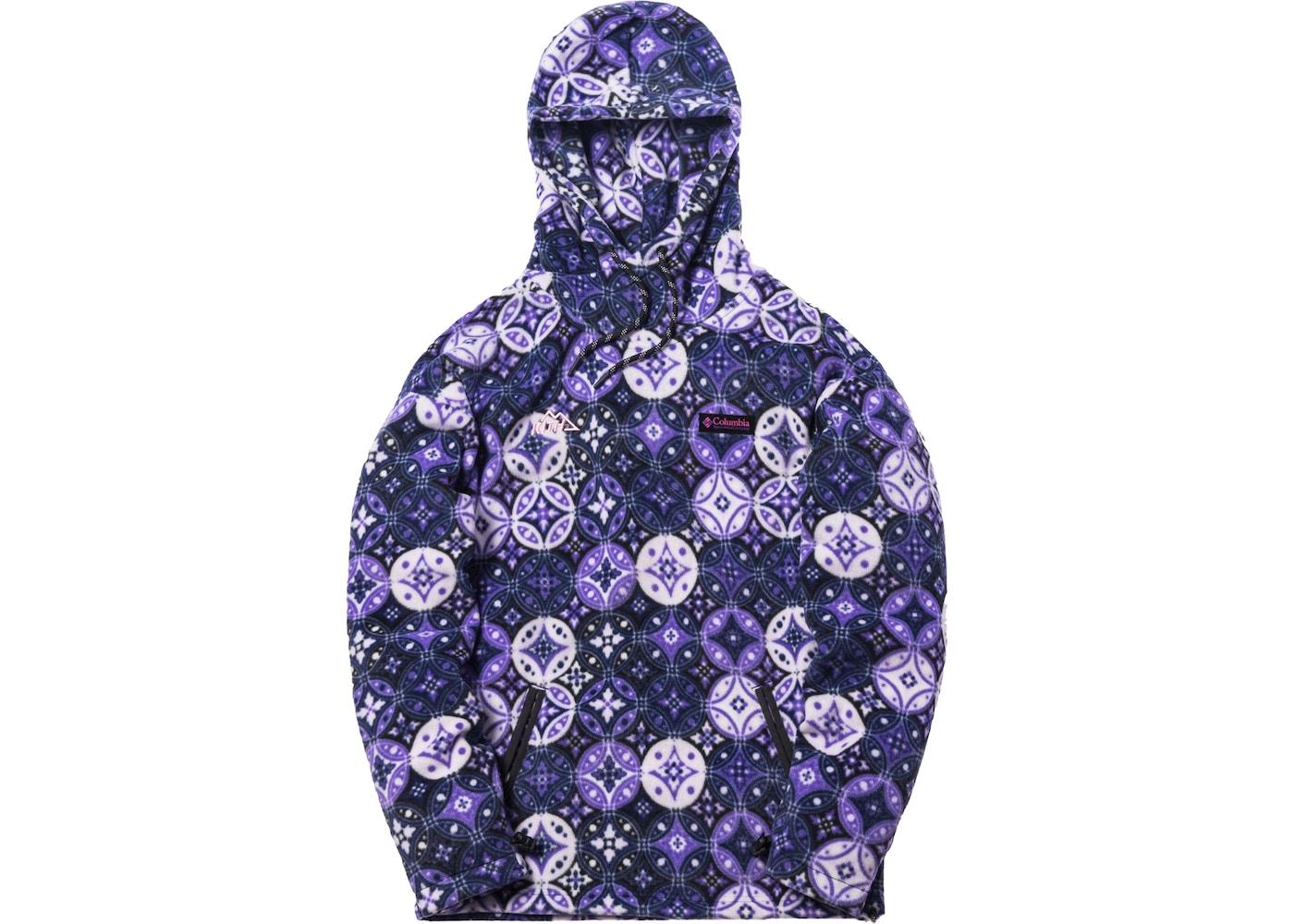 Kith x Columbia Fleece Hoodie Emperor Purple - FW18 154cfa032279