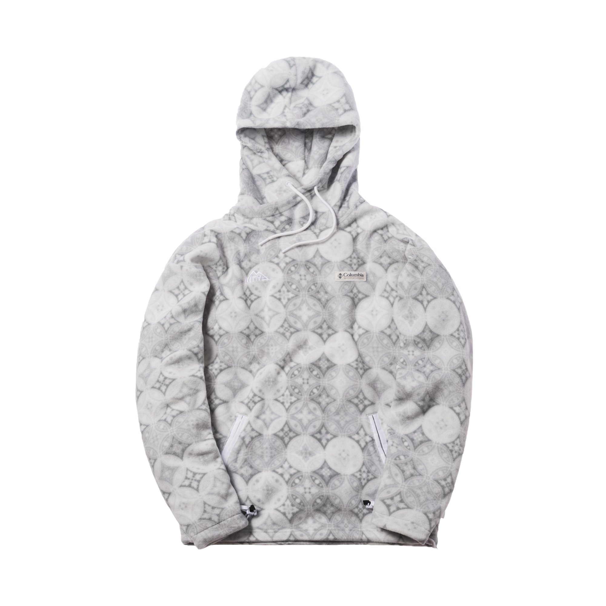 Kith x Columbia Fleece Hoodie Grey