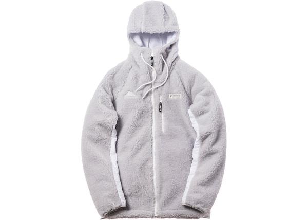 ed5dad5bc19a Kith x Columbia High Pile Full Zip Jacket Grey Ice