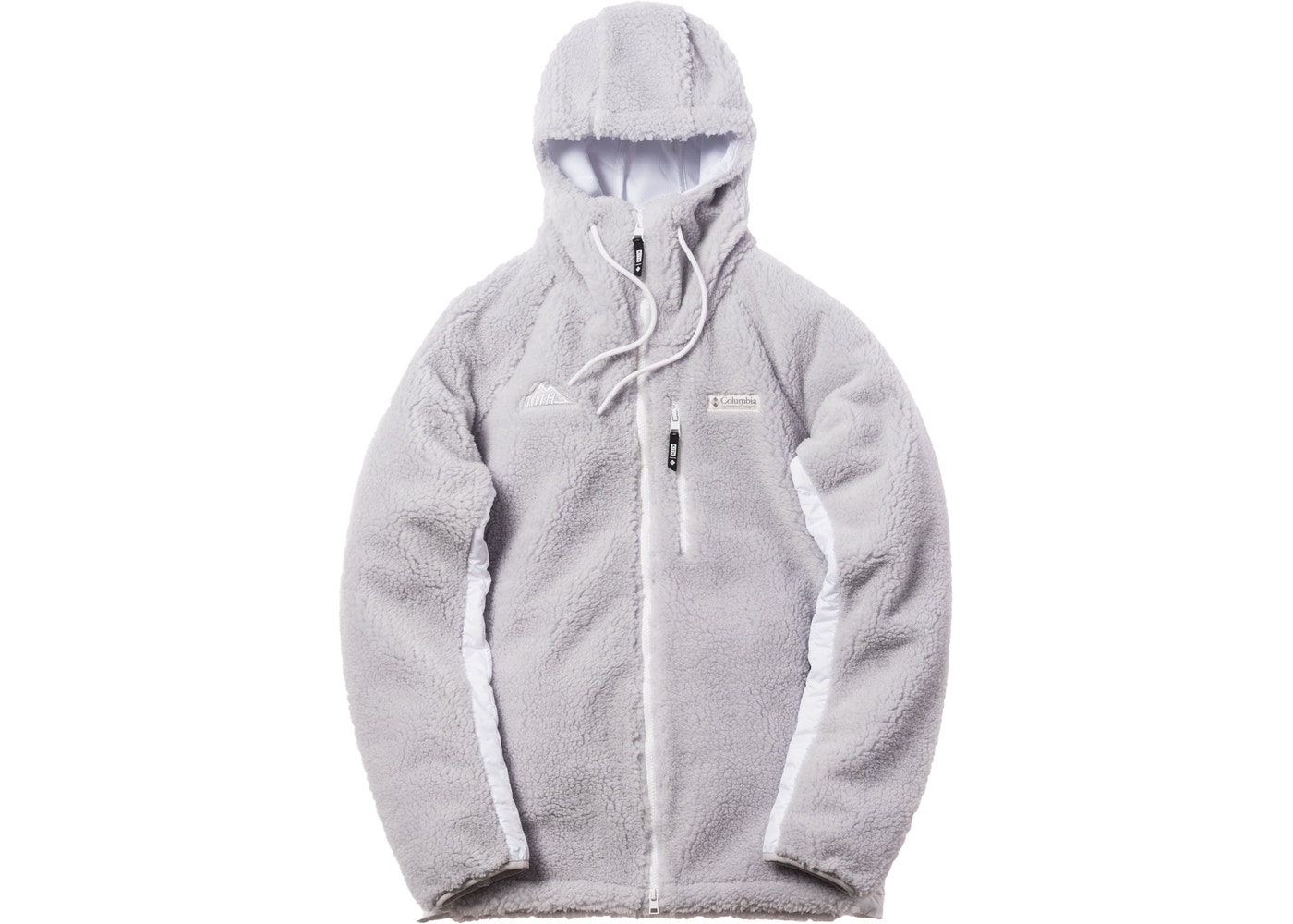 Kith x Columbia High Pile Full Zip Jacket Grey Ice