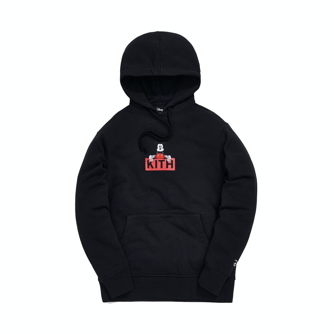 Kith X Disney Sitting Classic Logo Mickey Hoodie Black by Stock X