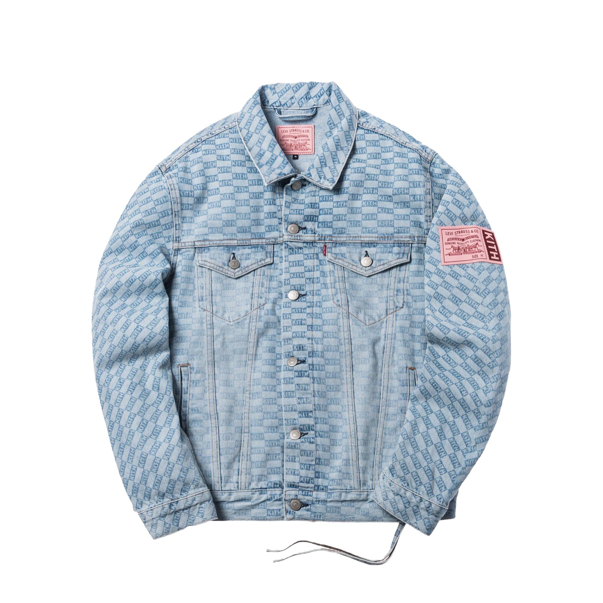 Kith x Levi's Salt Bleached AOP Trucker Jacket Light Blue
