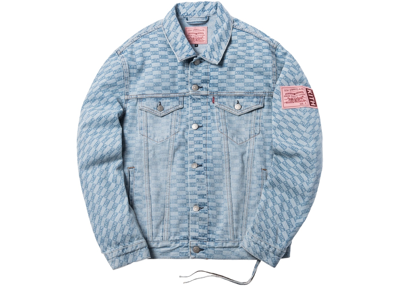 15da3fac Sell. or Ask. Size L. View All Bids. Kith x Levi's Salt Bleached AOP  Trucker Jacket Light Blue