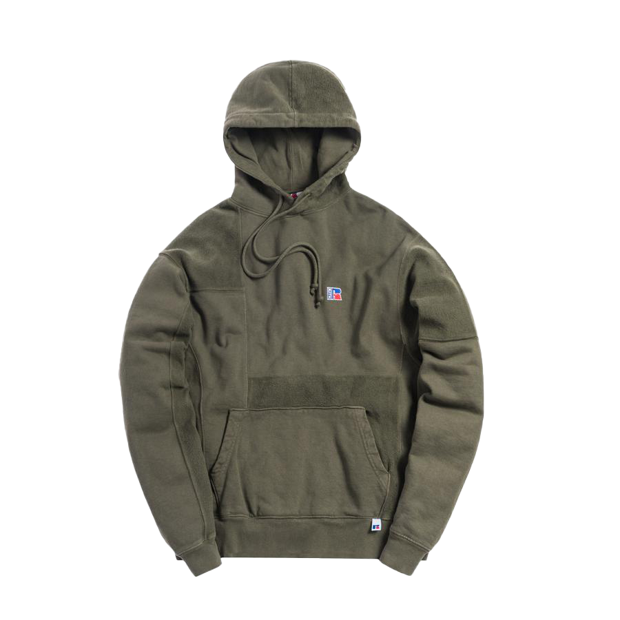 Kith x Russell Athletic Reverse Hoodie Climbing Ivy