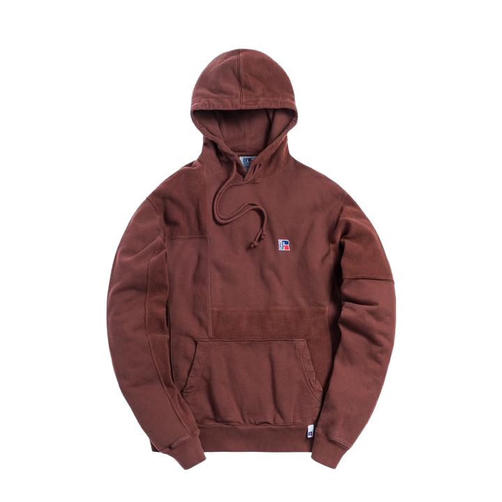 Kith x Russell Athletic Reverse Hoodie Decadent Chocolate