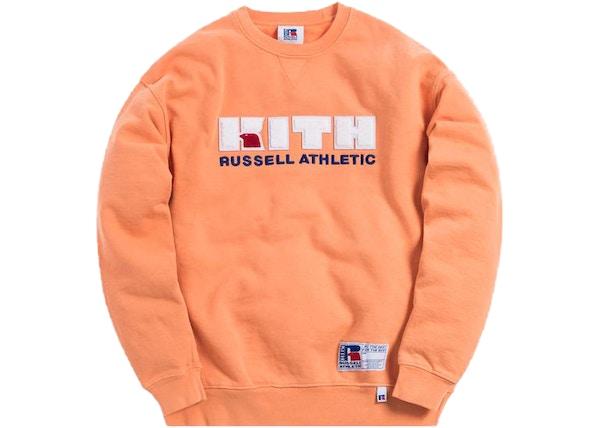 2a81e42a Kith x Russell Athletic Varsity Logo Crewneck Muskmelon