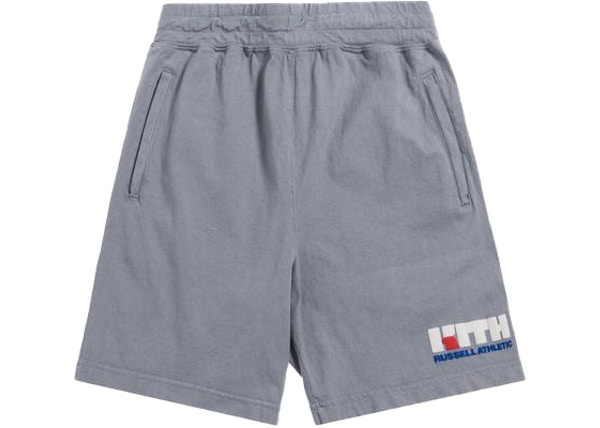 f9d8794fc15c Kith x Russell Athletic Varsity Logo Shorts Quarry