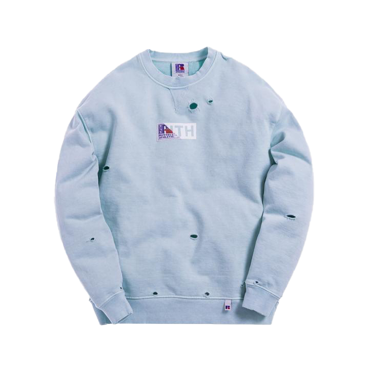 Kith x Russell Athletic Vintage Crewneck Chambray Blue
