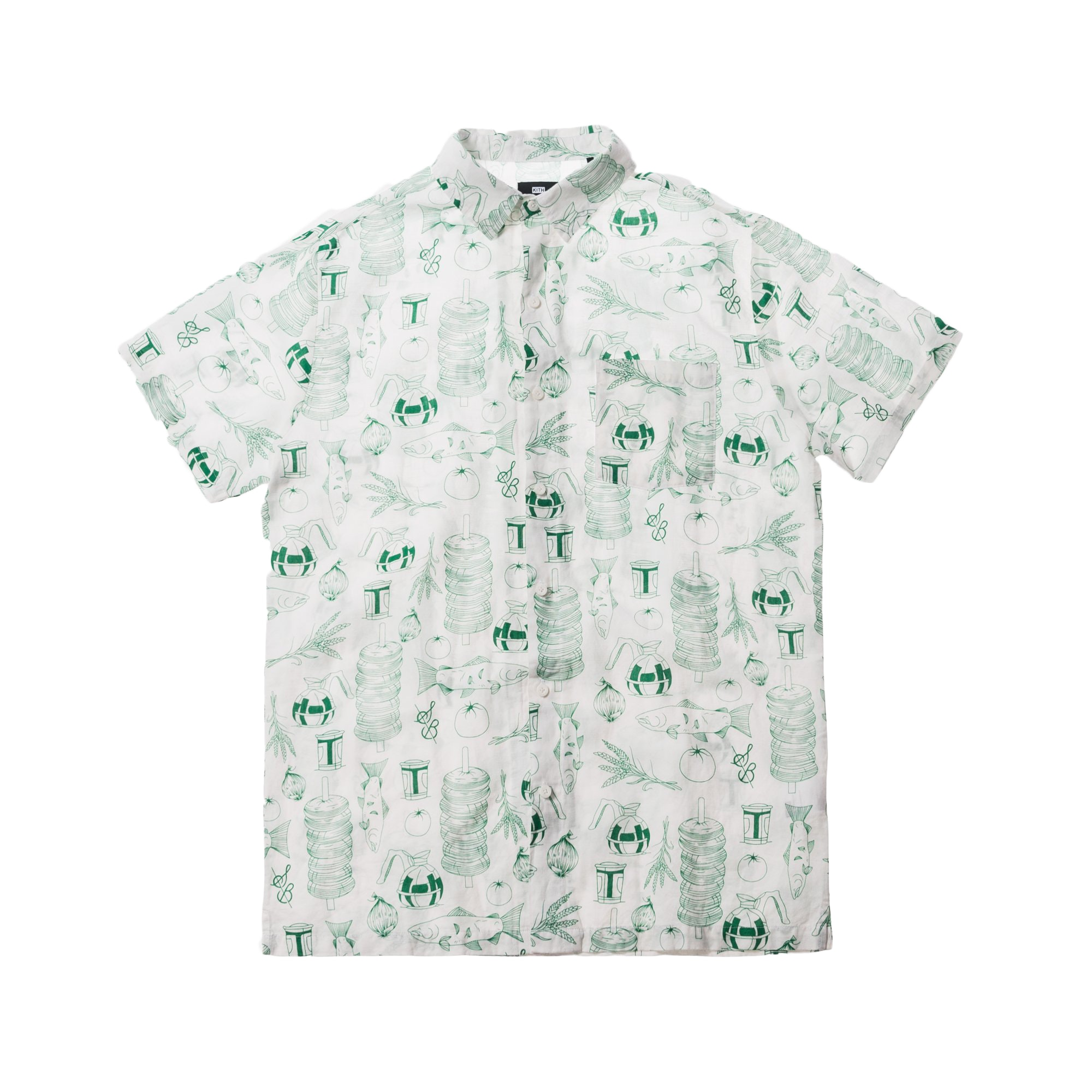 Kith x Sadelles All Over Hawaiian Button Up Multi