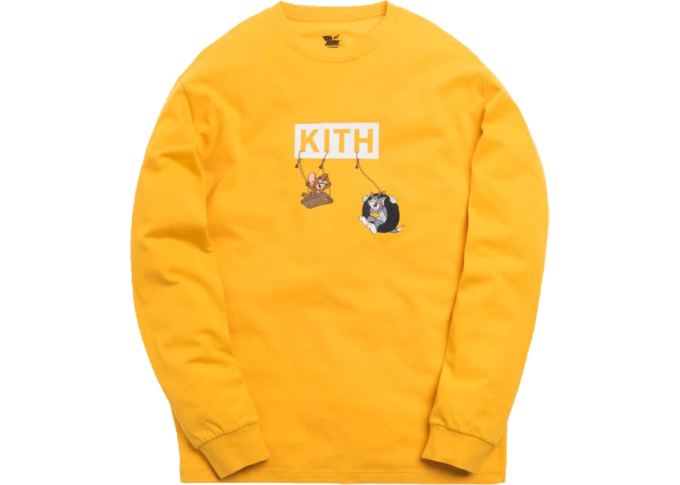 45423de2 Kith x Tom & Jerry L/S Friends Tee Yellow • Buy or Sell