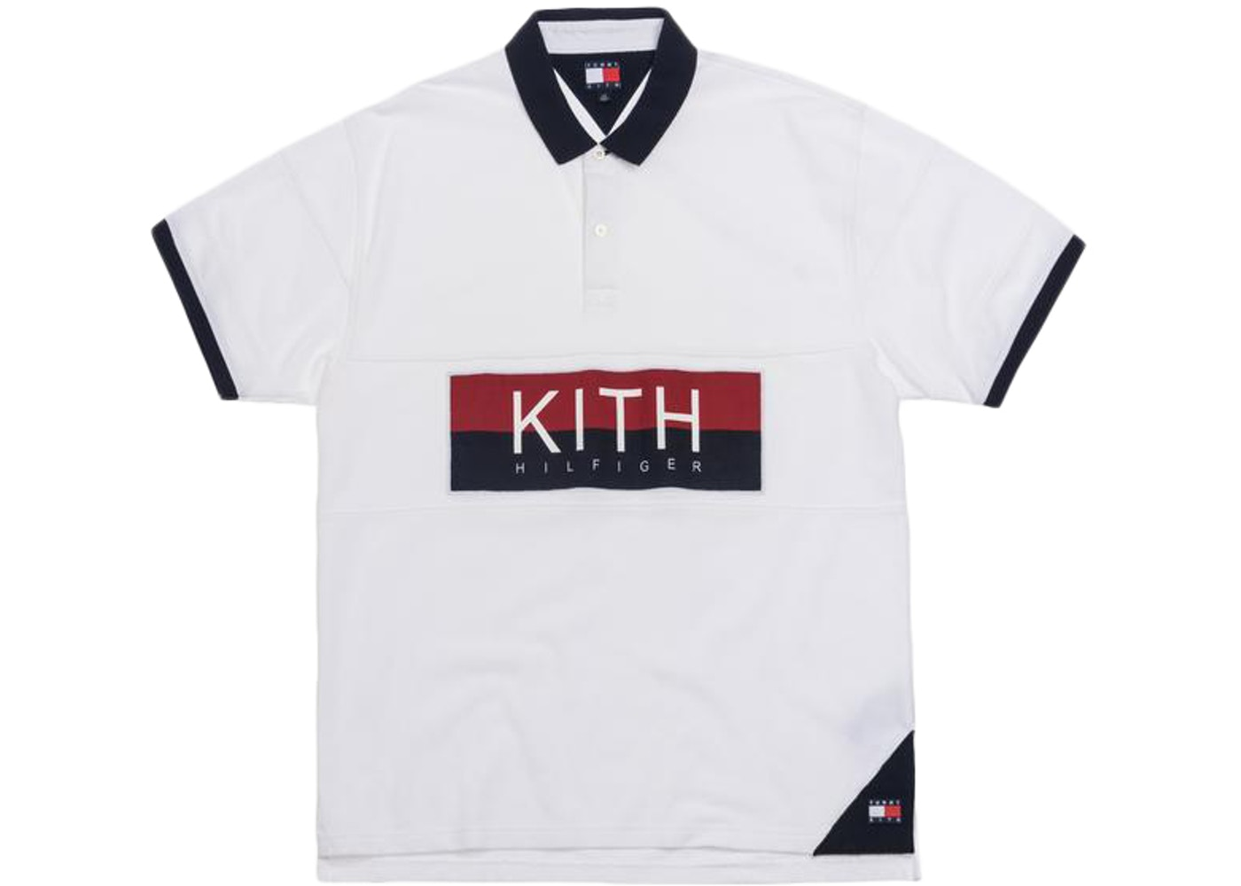343478f7 Kith x Tommy Hilfiger Chest Stripe Polo White - SS19