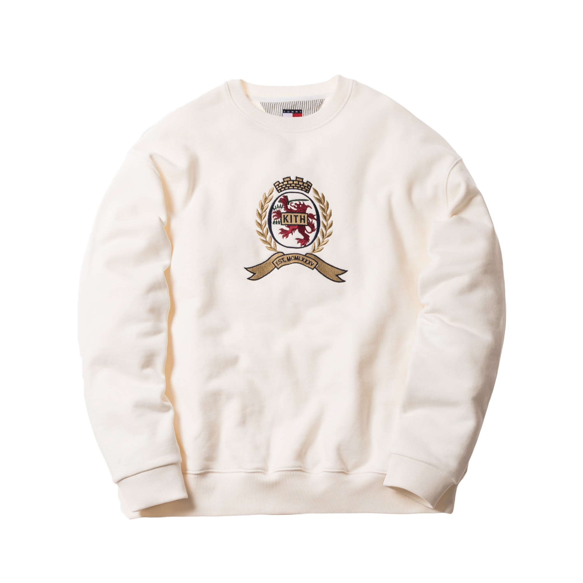 Kith X Tommy Hilfiger Crest Crewneck Ivory by Stock X