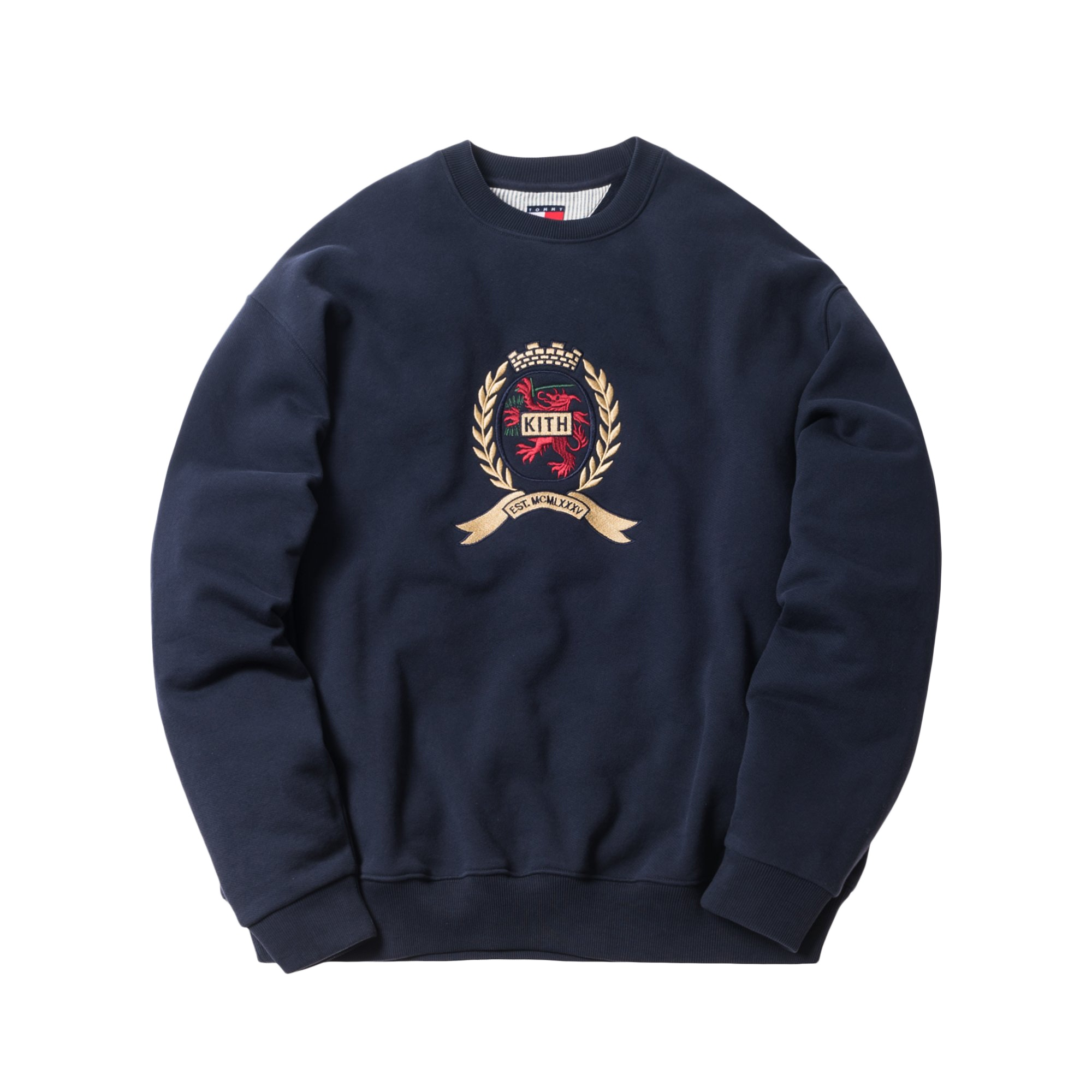 Kith X Tommy Hilfiger Crest Crewneck Navy by Stock X