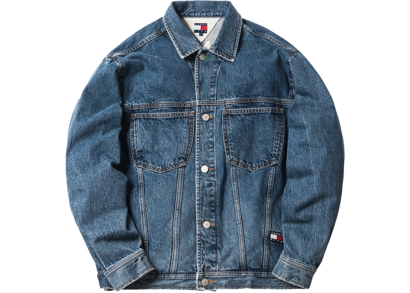 43f82201 Kith x Tommy Hilfiger Denim Trucker Jacket Vintage Blue - FW18