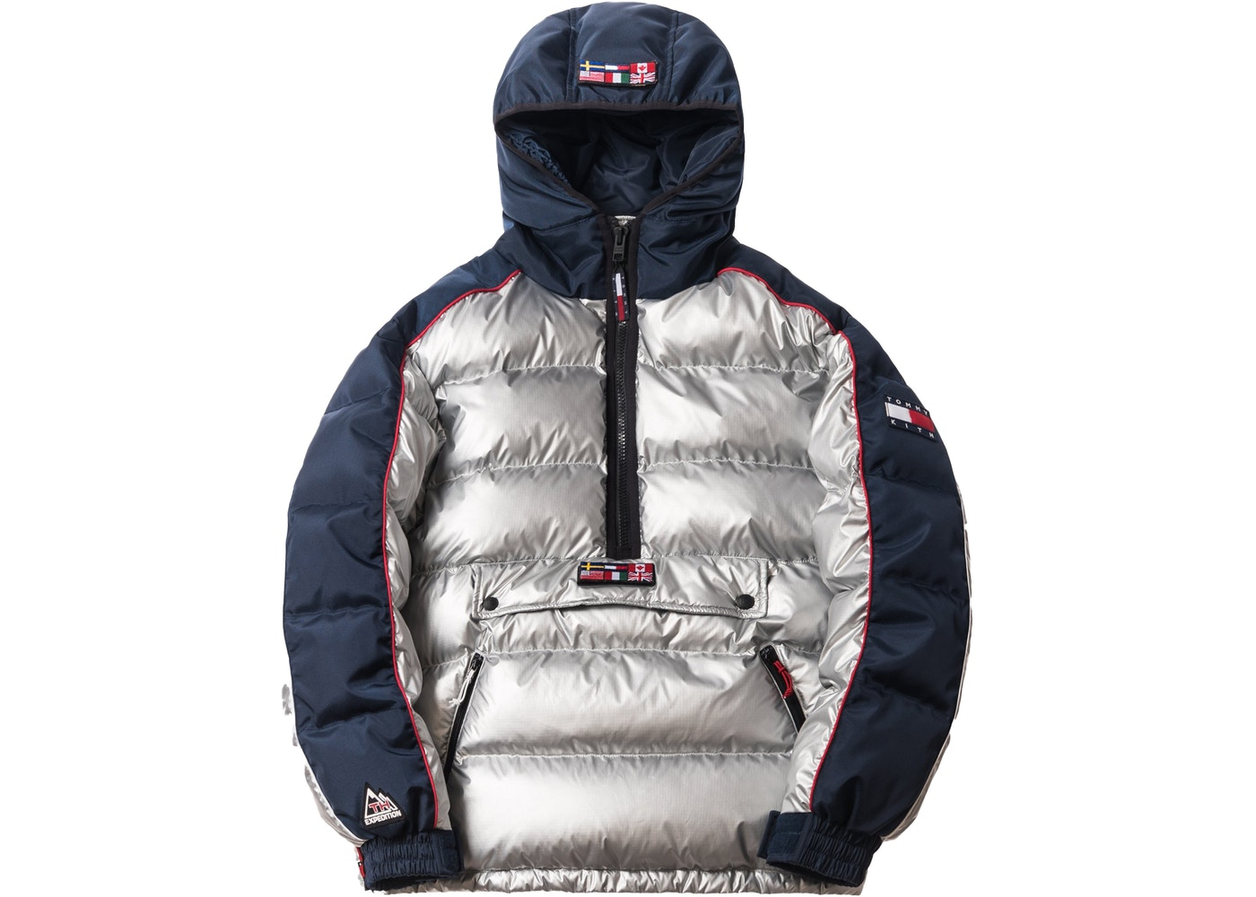 d3f0bd845 Kith x Tommy Hilfiger Expedition Puffer Pullover Silver - FW18