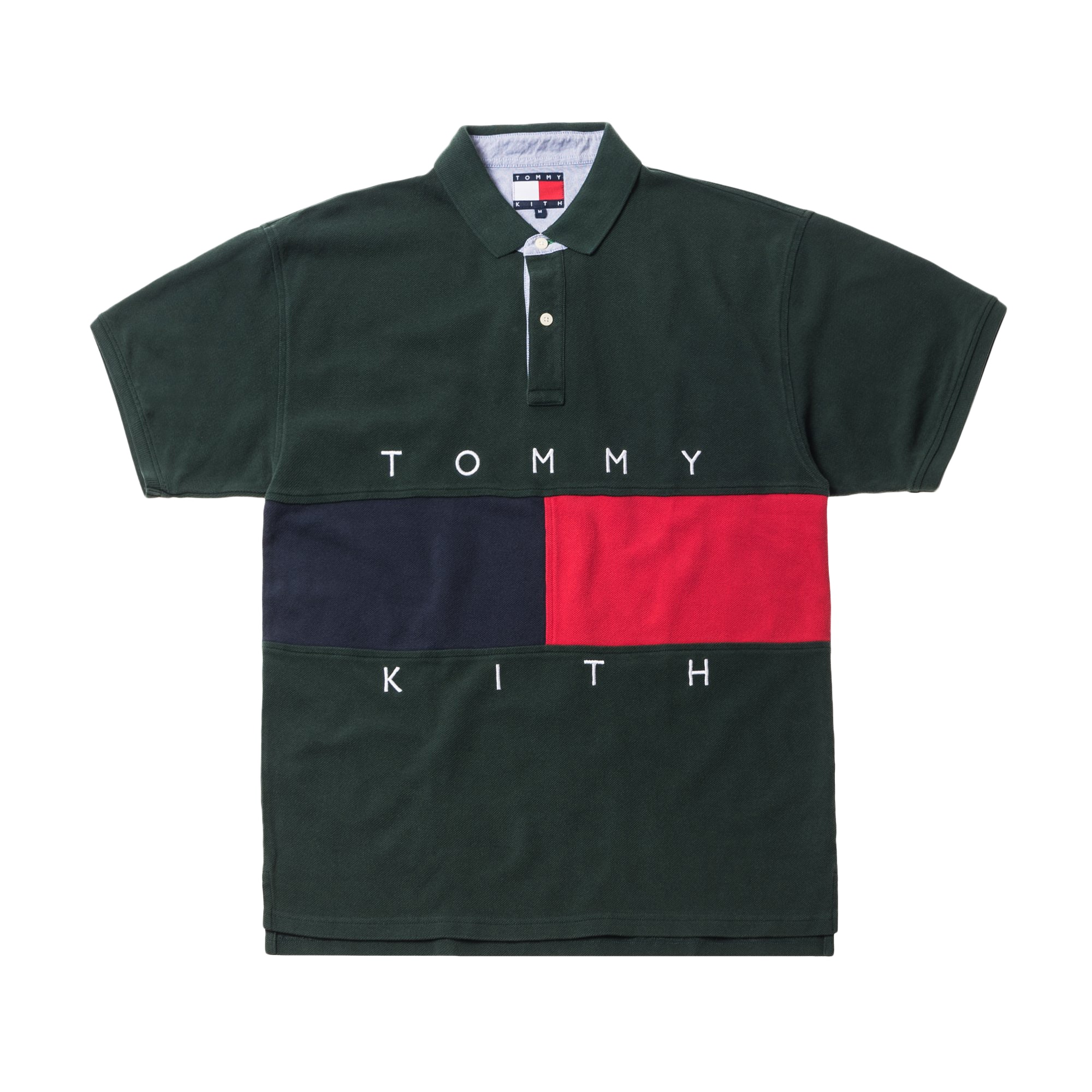 Kith x Tommy Hilfiger Flag S/S Polo Forest
