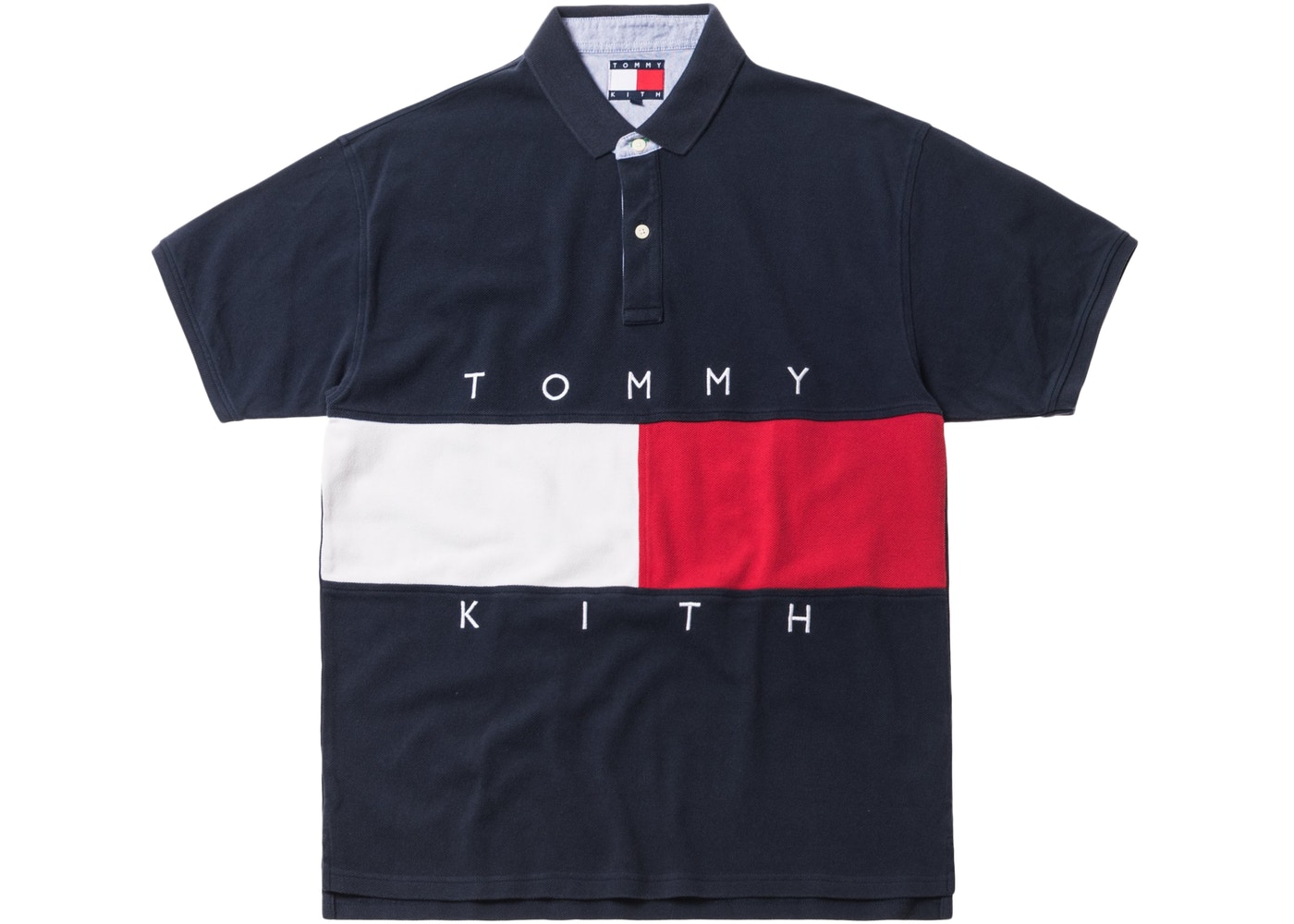 7be4ba50 Kith x Tommy Hilfiger Flag S/S Polo Navy - FW18