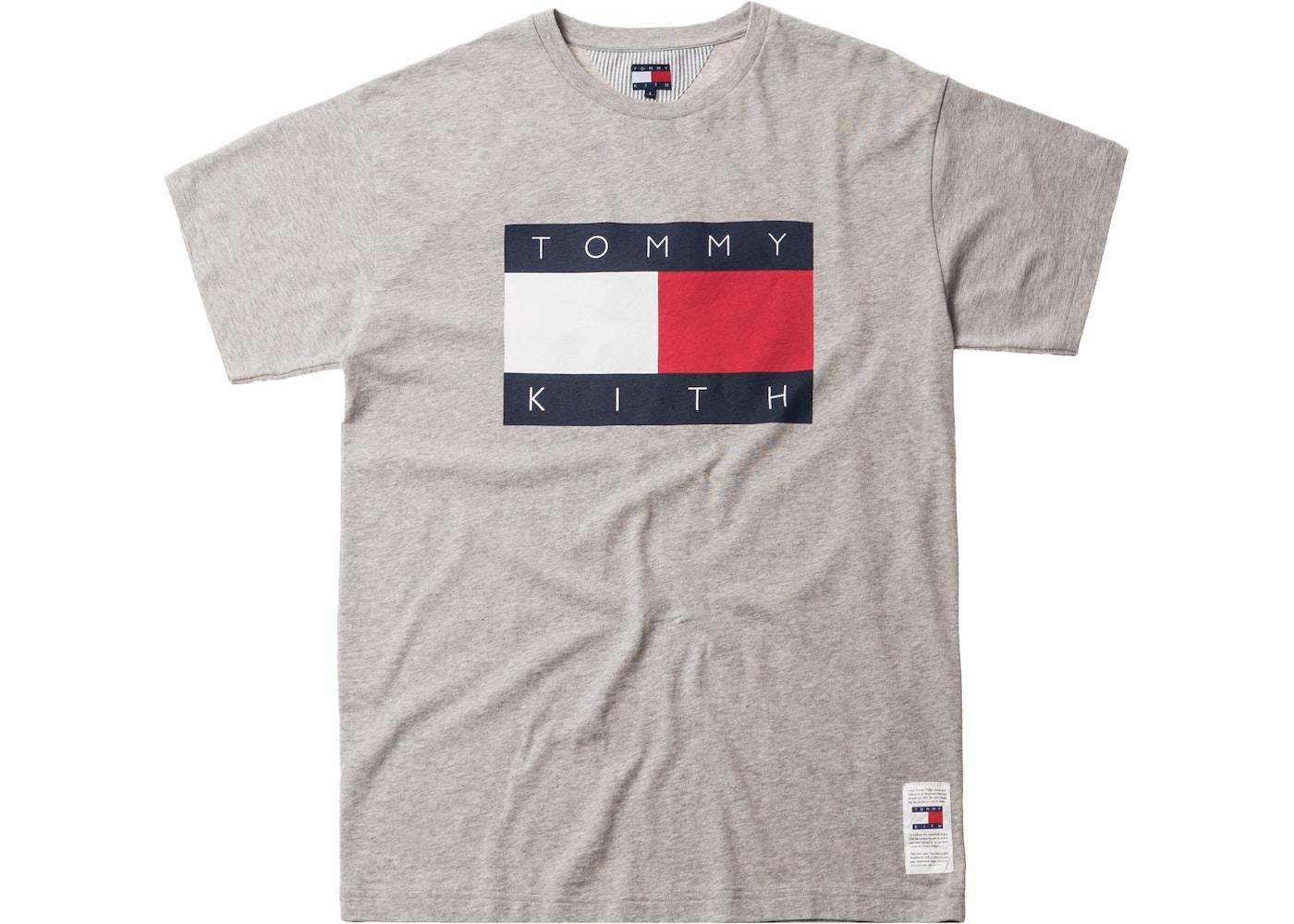 906bb24ac Kith x Tommy Hilfiger Flag Tee Grey - FW18