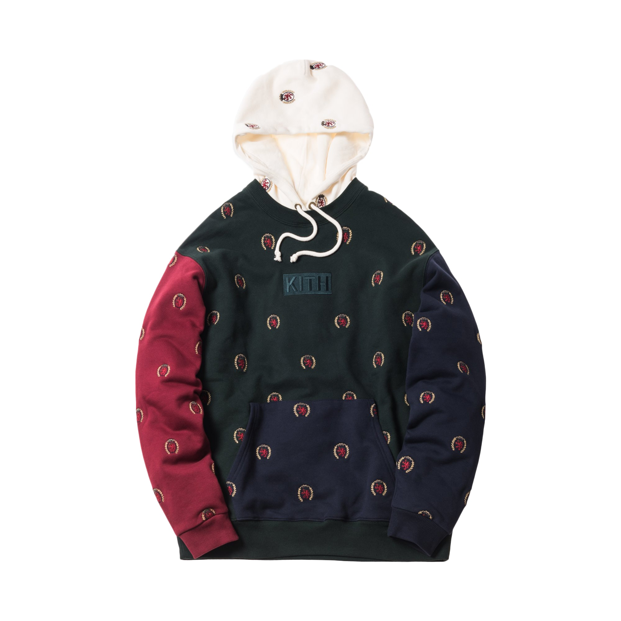 Kith x Tommy Hilfiger Full Embroidered Crest Hoodie Multi