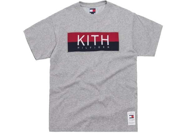 Kith x Tommy Hilfiger Logo Tee Grey