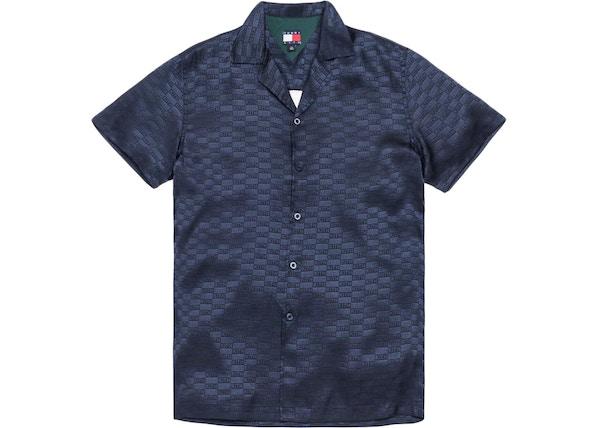 Kith x Tommy Hilfiger Satin Camp Shirt Navy