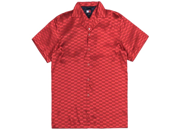 713a4403 Kith x Tommy Hilfiger Satin Camp Shirt Red