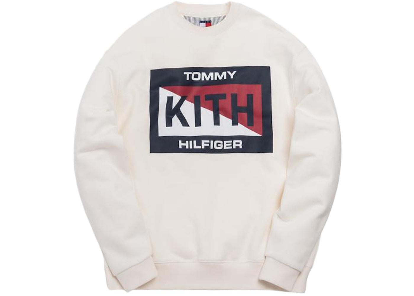 8737a807 Shoptagr | Kith X Tommy Hilfiger Slash Logo Crewneck Cream by Stock X