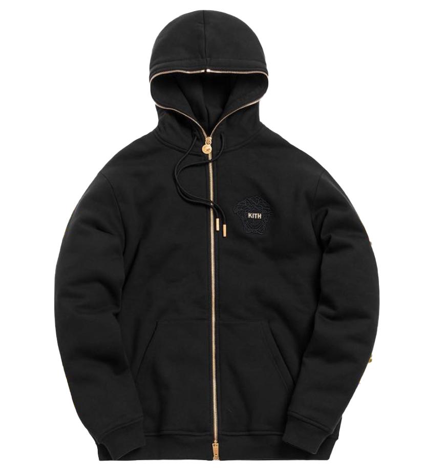 Kith x Versace Full Zip Hoodie Black