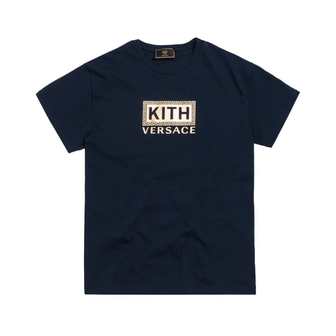 Kith x Versace Greek Key Tee Navy