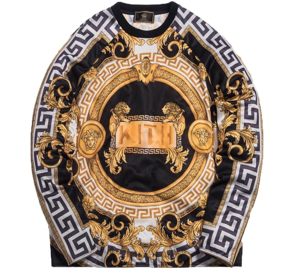 Kith x Versace Lion Tricot Crewneck Black/Gold