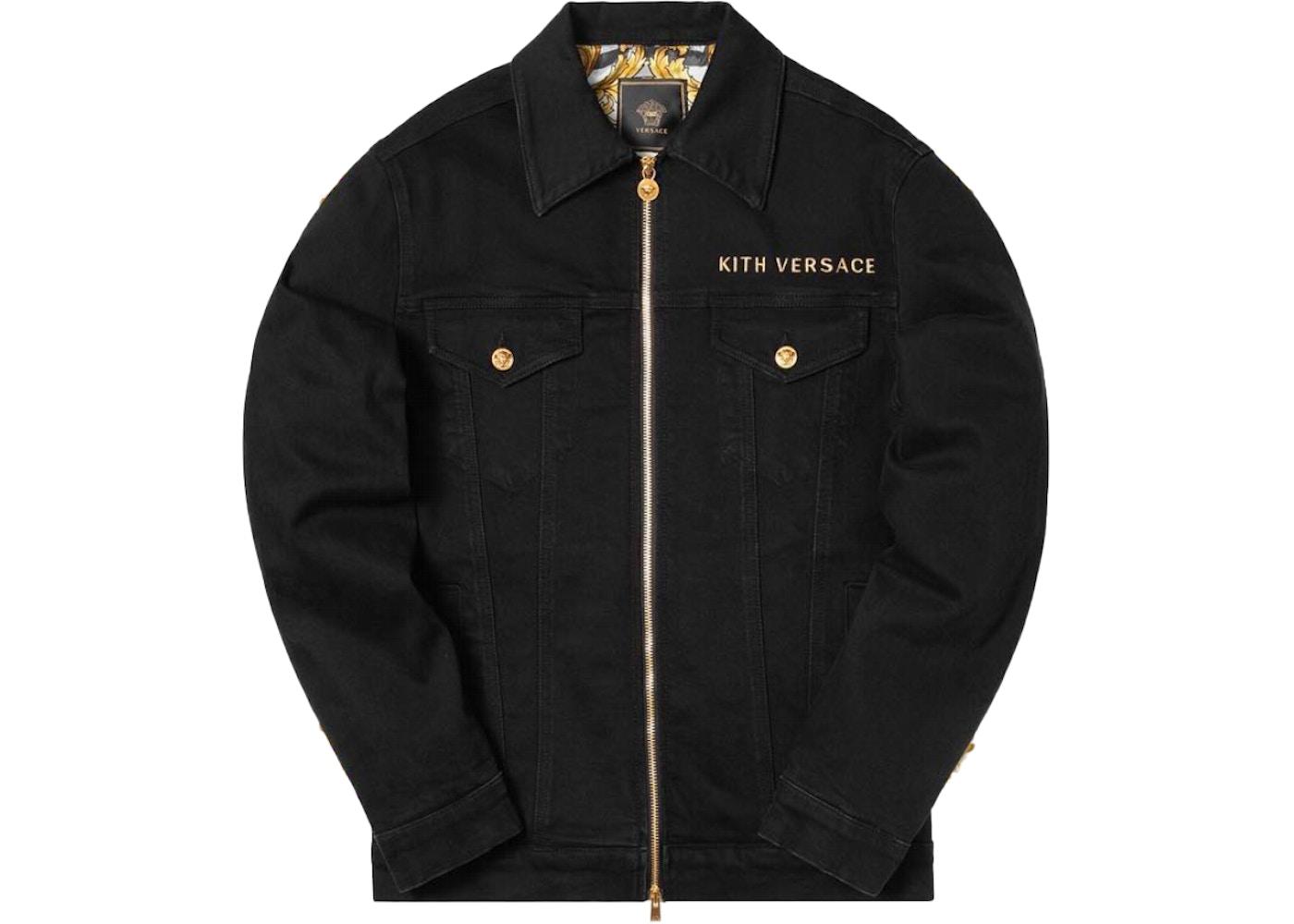 new high good quality check out Kith x Versace Medusa Denim Jacket Black