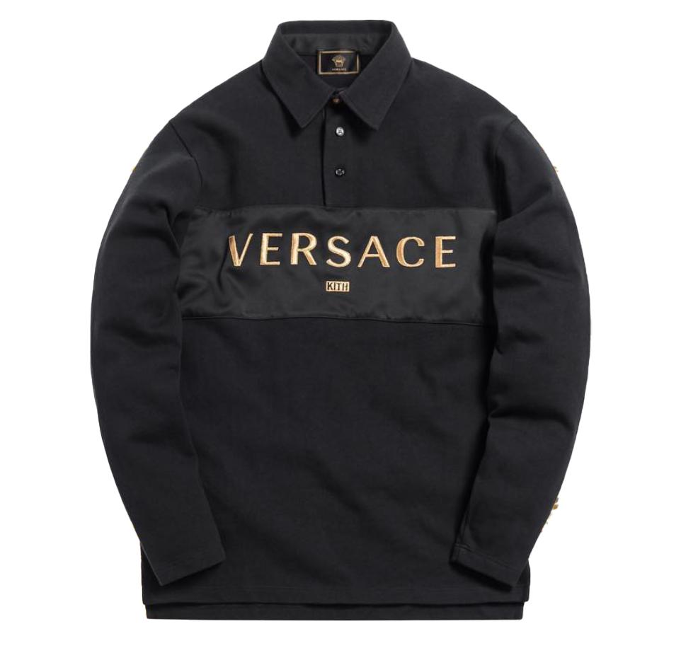 Kith x Versace Rugby Shirt Black