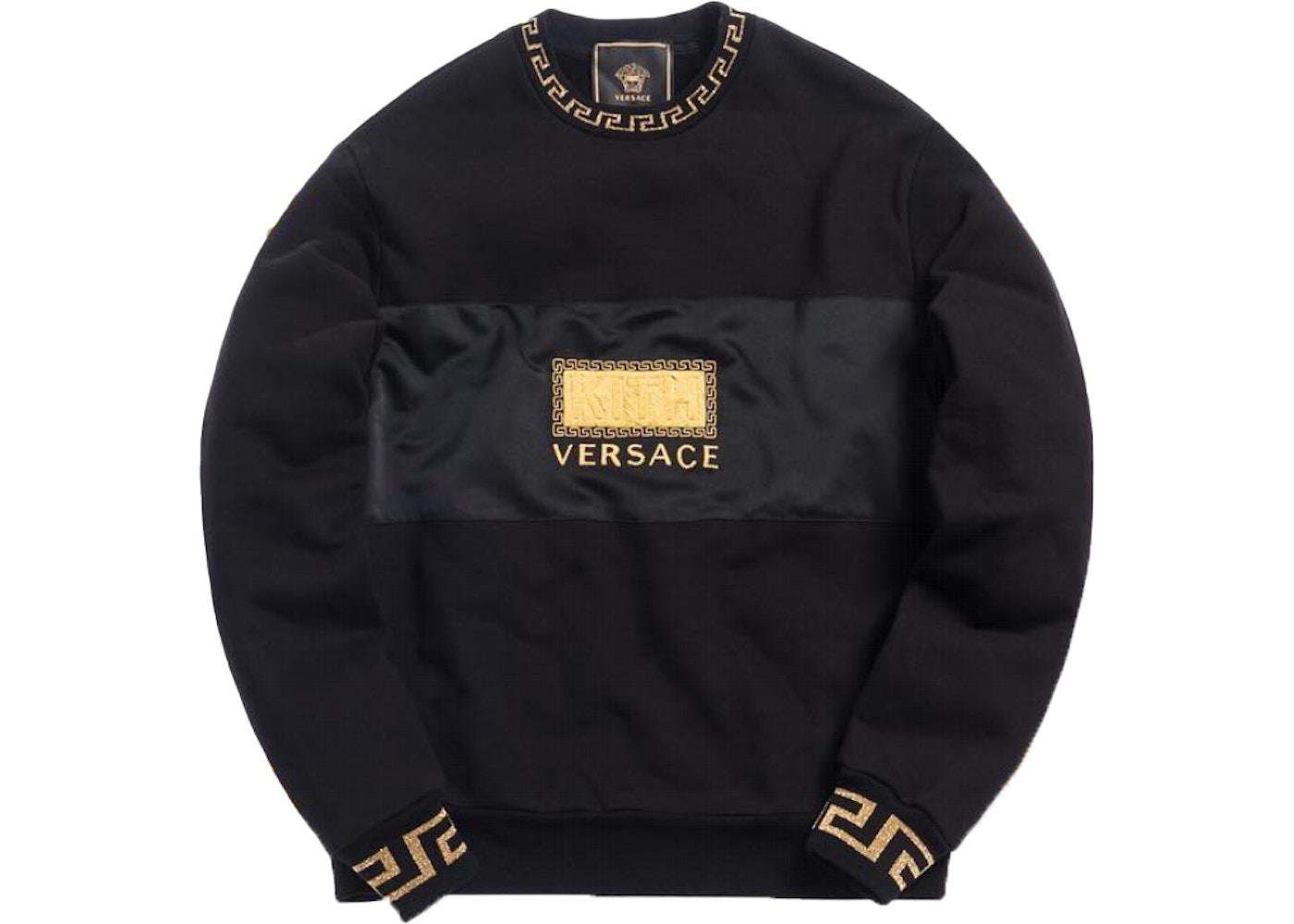 8ee57ed9 Kith x Versace Women's Greek Key Crewneck Black - SS19