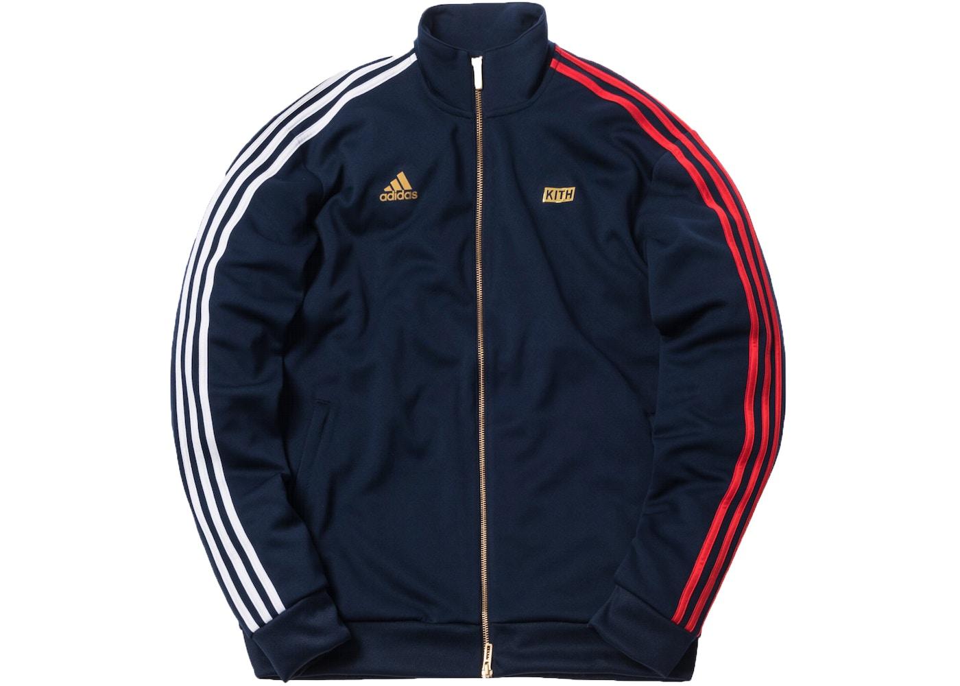 Kith x adidas 3-Stripes Track Jacket Navy - SS18 a7621e8586fd