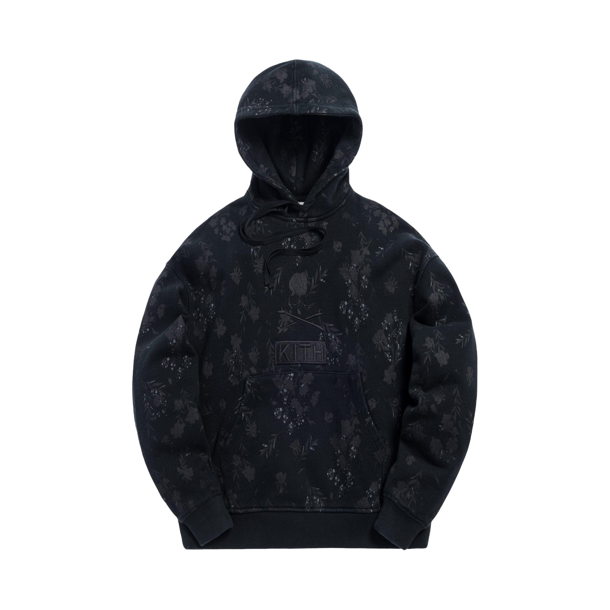 Kith x mastermind WORLD Fleece Pullover Hoodie Black