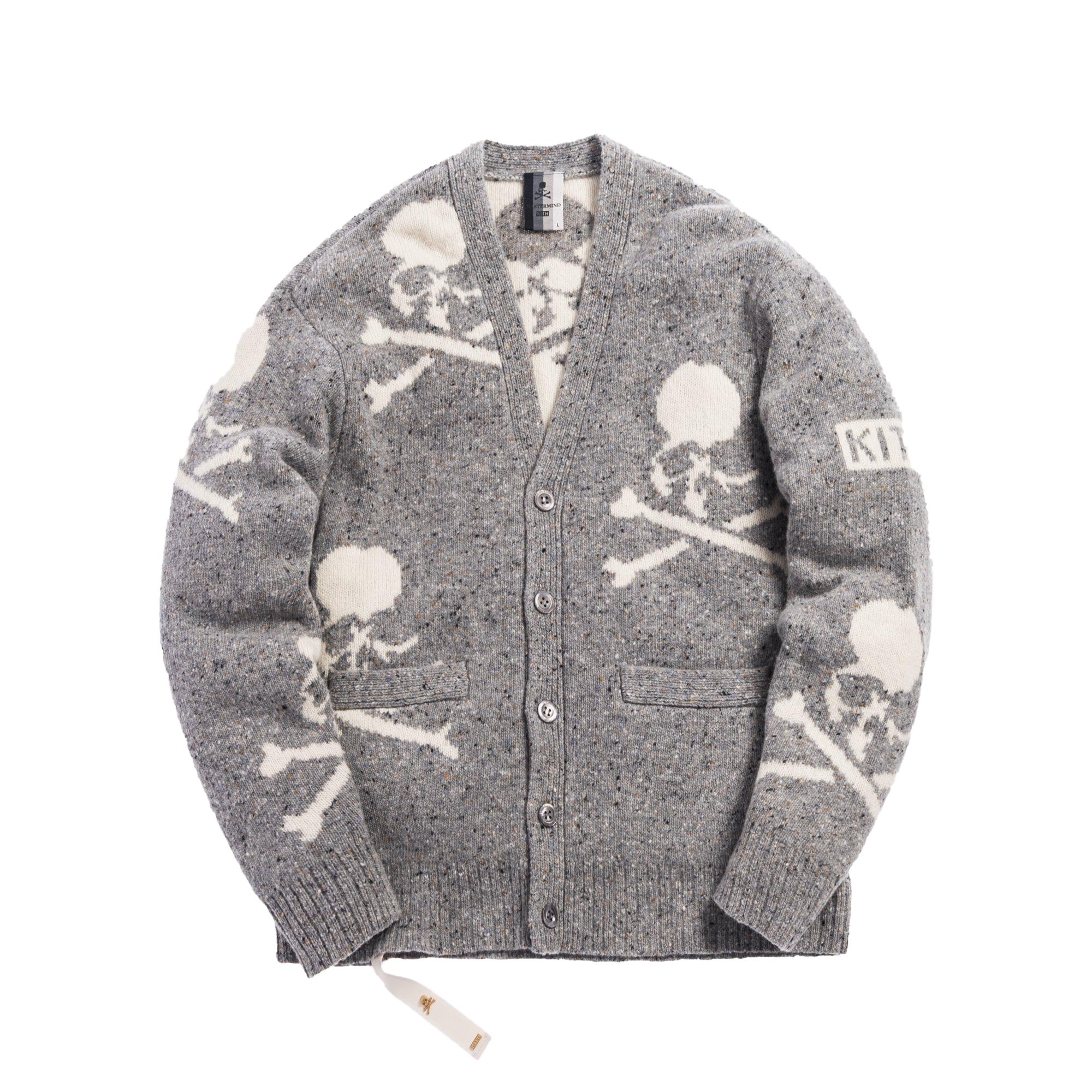 Kith x mastermind WORLD Knit Cardigan Turtle Dove