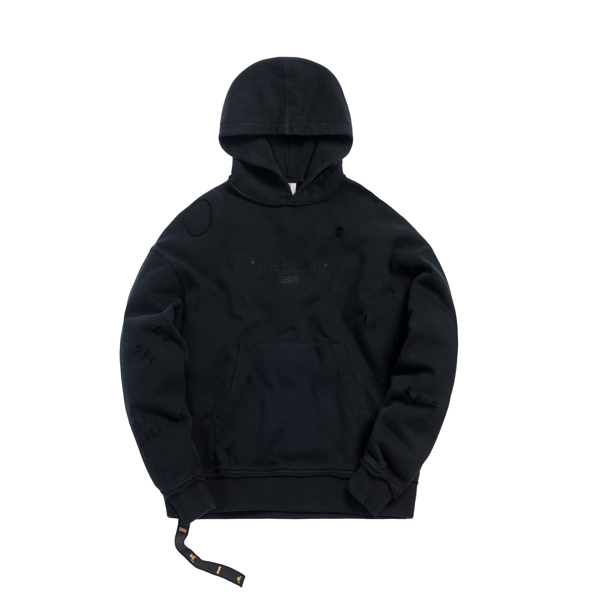 Kith x mastermind WORLD Knit Hoodie Black