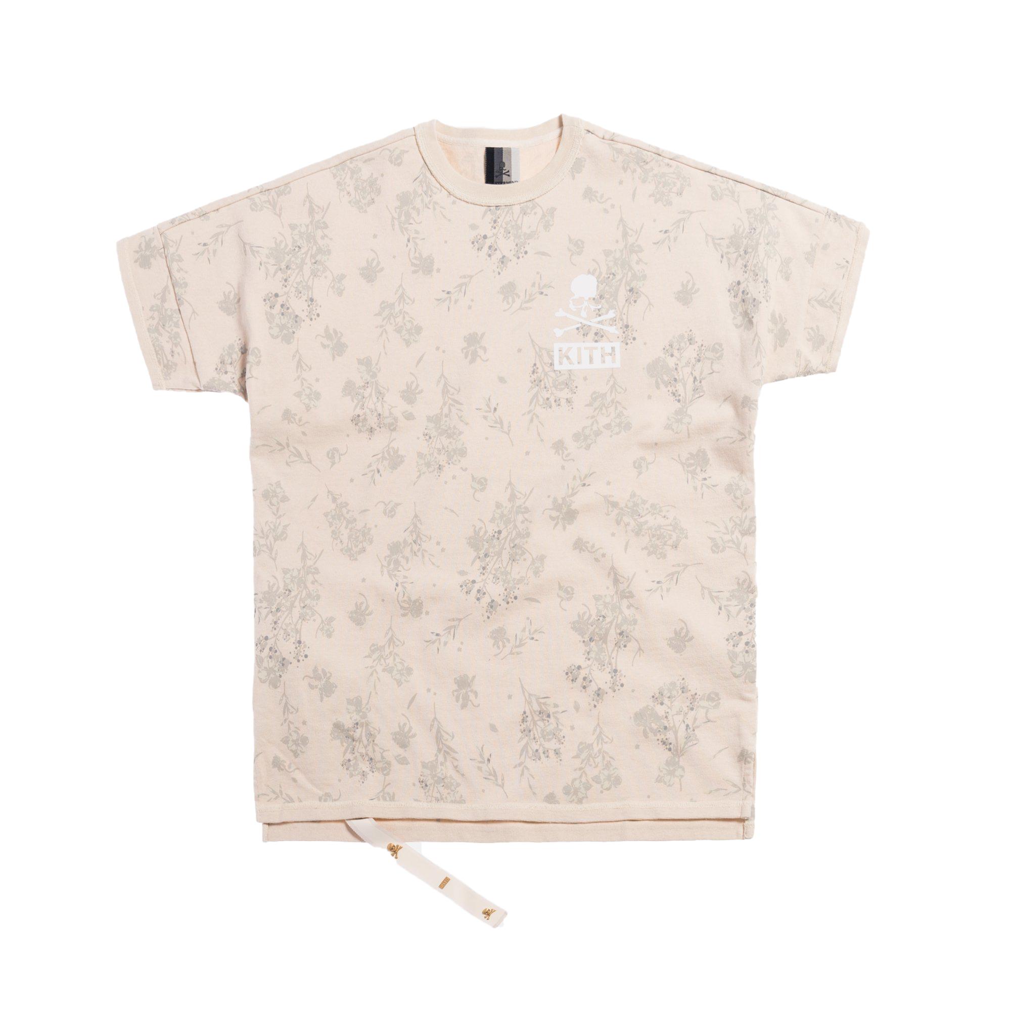 Kith x mastermind WORLD Reverse Floral Tee Turtle Dove